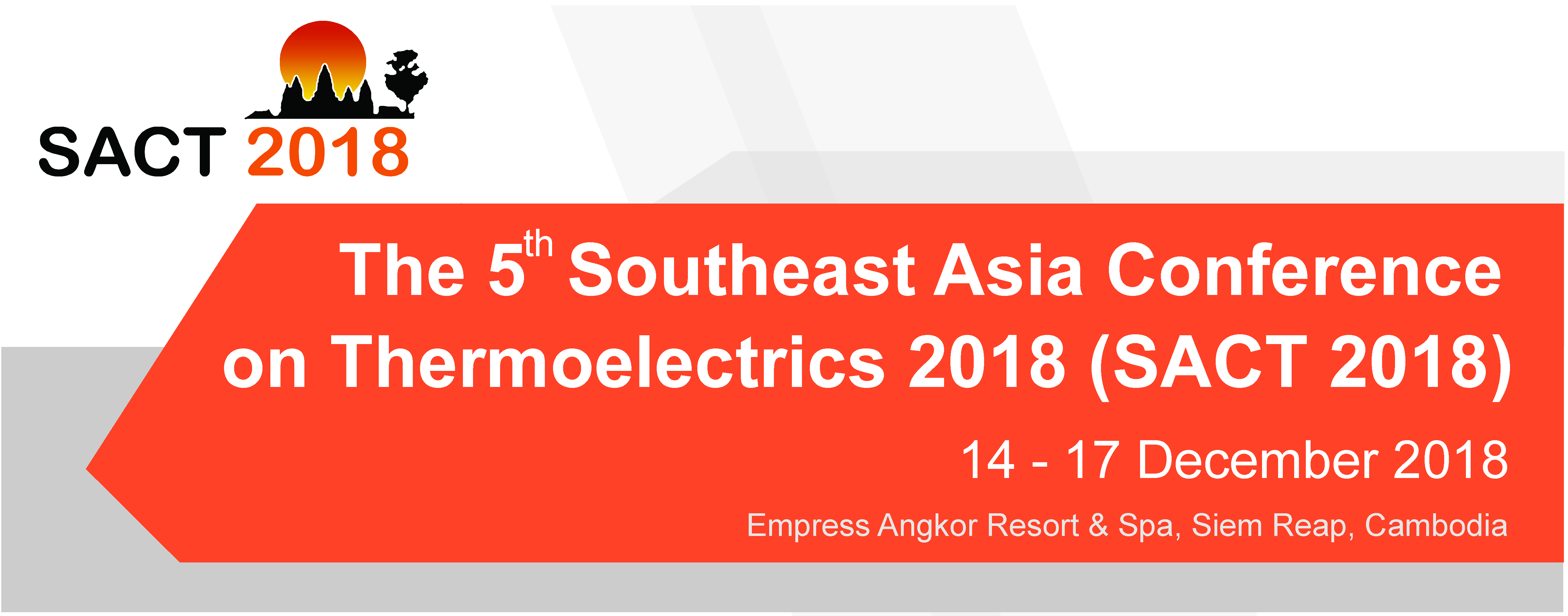 The 5   Southeast Asia Conference  on Thermoelectrics 2018 (SACT2018)